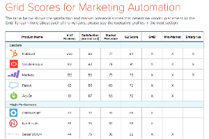 Marketing Automation Online Research - Grid Scores